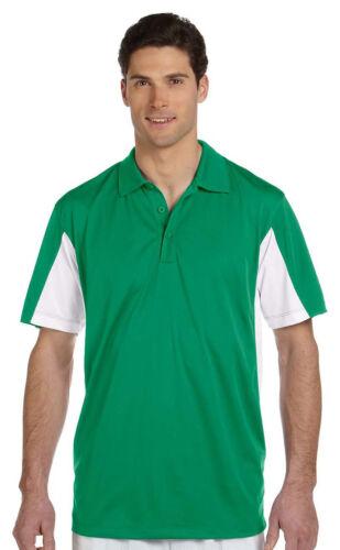 Harriton Men/'s Polyester Moisture Wicking Short Sleeve Polo Shirt Tee Top M355