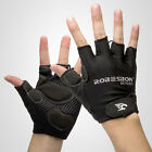 Bike Bicycle Cycling Half Finger Gloves Antiskid GEL Silicone Fingerless Mitts