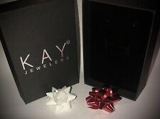 Kay Jewelers Pendant Gift Box Black Velvet Necklace Presentation Box Earring