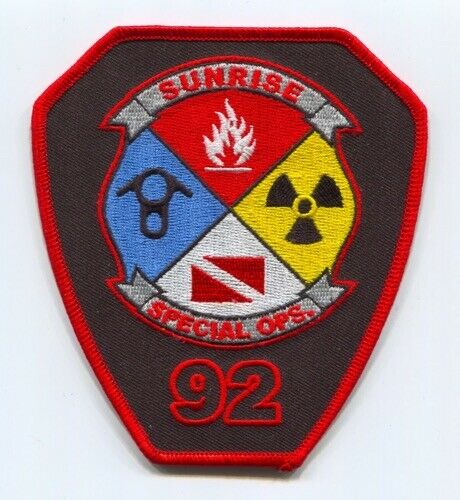 Sunrise Fire Rescue Department Benevolent Association Patch Florida FL