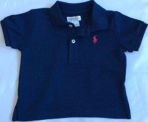 New Baby Boys Ralph Lauren Polo Shirt 6 Mois-Bleu Marine