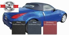 Fits: Nissan 350Z Convertible Soft Top And Heated Glass Window Twill Grain Vinyl