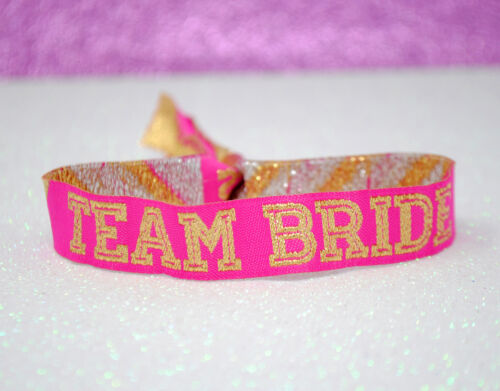 brides babes wristband favours Team Bride Cheerleader Hen Party Wristbands