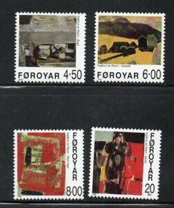 Faroe Islands Sc 364-67 1999  Paintings by Ingalvur av Reyni stamp set mint NH