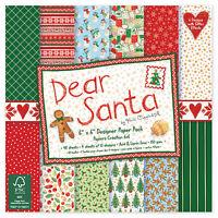 48 SHEET FULL PACK 6 x 6 DEAR SANTA CHRISTMAS CARD MAKING CRAFT BACKING PAPER