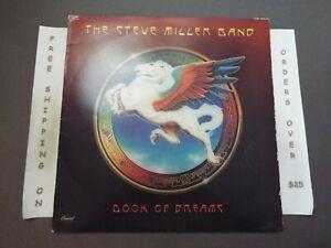 THE STEVE MILLER BAND BOOK OF DREAMS 1977 LP W/ LYRIC SLEEVE SO-11630