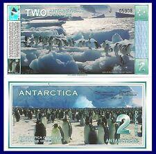 Antarctica $2, Adele Penguins at Paulet Island., 1996 UNC hologram!