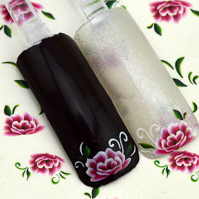 New Flower Water Transfer Nail Art Stickers Decals Nail Tips Decortaion Tool