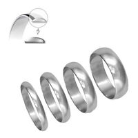 950 Hallmarked Platinum Wedding Ring D Shape 3mm 4mm 5mm 6mm