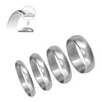 950 Hallmarked Platinum Wedding Ring D Shape 3mm 4mm 5mm 6mm