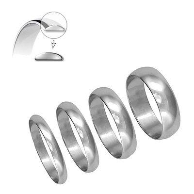 950 Hallmarked 3mm Platinum Wedding Ring  D Shape Finger Size H to Z+2