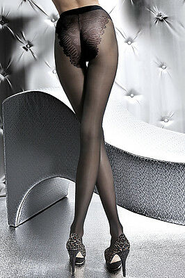 Sexy Fein Strumpfhose Pantyhose Dessous Tights 20 DEN Strümpfe S M L schwarz
