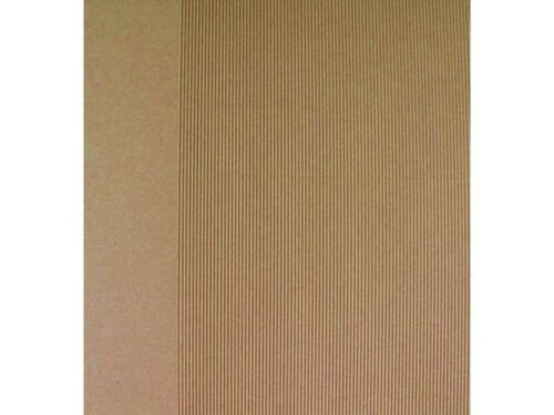 Kraft Recycled Card 5 x A4 Fluted 1 Side Cardmaking Wedding Invites Crafts AM204