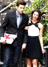 NEW! Prabal Gurung For Target Pleated Dress -Black /White Ribbon Bow Sz 8 10