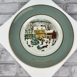 Avon Christmas Collectible Plate Country Christmas Enoch Wedgwood England 1980
