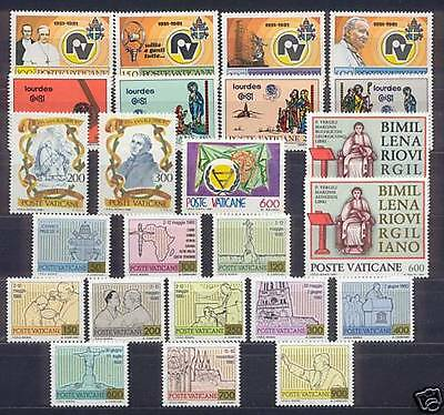VATICANO \ 1981    ANNATA COMPLETA   MNH**