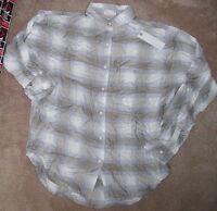 Gentile Fawn Long Sleeve L/s Women S Small Casual Dress Shirt