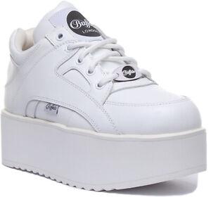 white buffalo platform sneakers