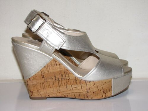 Franco Sarto Platforms Wedge Sandals Silver Womens