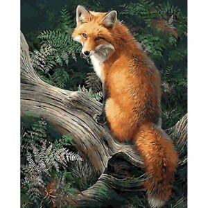 Peinture-par-Numeros-DIY-Peinture-Acrylique-Image-Art-Arriere-le-Fox