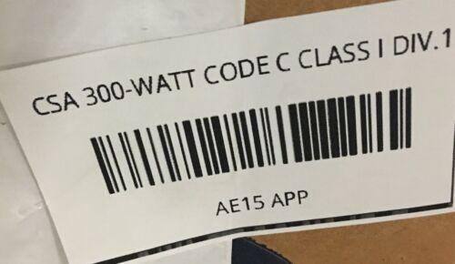 Details about  /AE15 APPLETON CSA 300-WATT CODE C CLASS I DIV.1