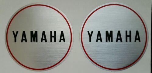 YAMAHA CS5 MODELS ENGINE CASING CRANKCASE DECAL KIT 80mm DIAMETER PAIR