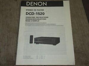DENON-DCD-1520-CD-player-original-owners-manual
