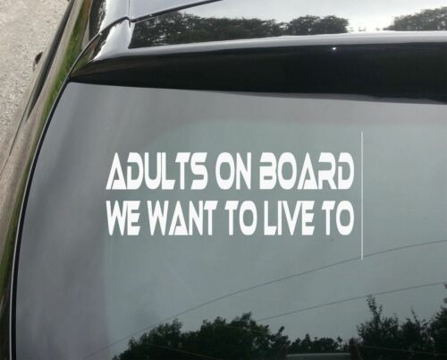 ADULTS ON BOARD Funny Car Window Bumper JDM VAG EURO Novelty Vinyl Decal Sticke