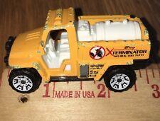 "2008 Matchbox ""Farm"" Foam Fire Truck AMBER/BUG XTERMINATOR Black Gold Yellow"