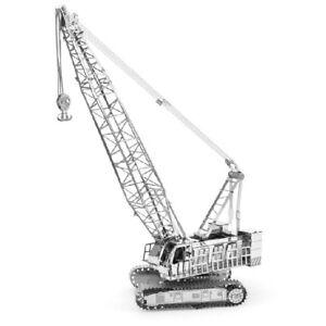 Metal-Earth-1092-Crawler-Crane-3D-Metal-Kit-Silver-Edition