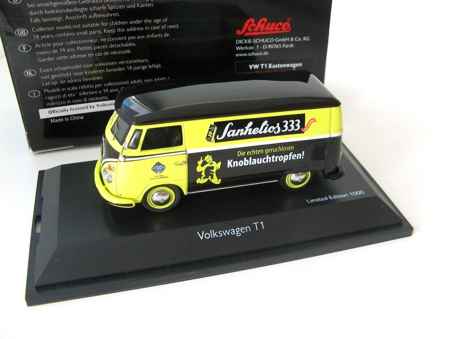 VW T1  SANHELIOS 2 , noir-jaune 1 43 Schuco Ultra Rare