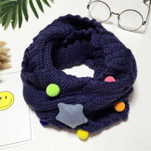 Unisex Baby Kids Winter Warm Kawaii Star Snore Knitted Wool Scarf Collar Muffler