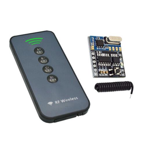 433 MHz 4 Kanal Funkempfängermodul 4 Tasten HF Fernbedienung