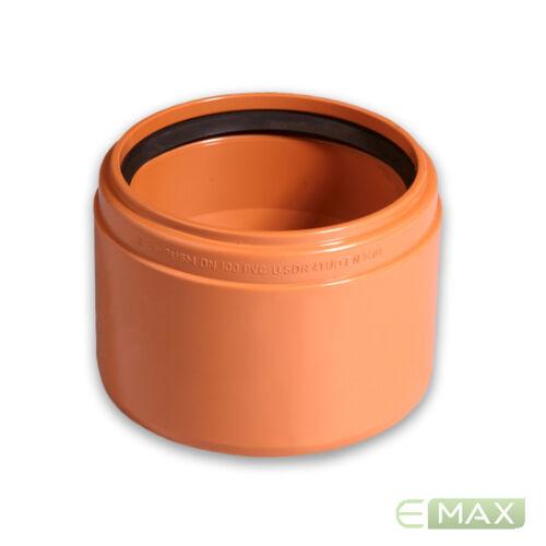 verschiedene Varianten Kanalrohrsystem KG-Anschluss an Steinzeug Muffe