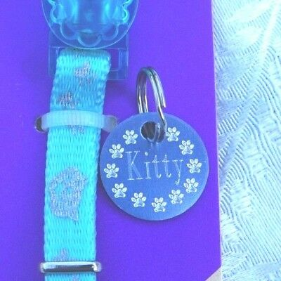 ROSEWOOD REFLECTIVE BLUE SAFETY KITTEN COLLAR WITH ID TAG
