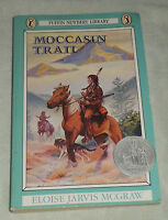 Moccasin Trail Eloise Jarvis Mcgraw Signed 1988 Pb Crow Indian Oregon