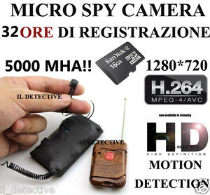 Spy Camera Spia FULL HD MOTION DETECTION TELECAMERA NASCOSTA ...