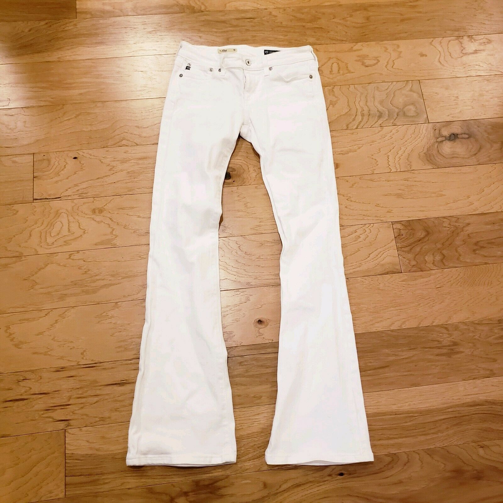Ag Adriano goldschmied Women's The Club Well Fitted Jean White Size 26R