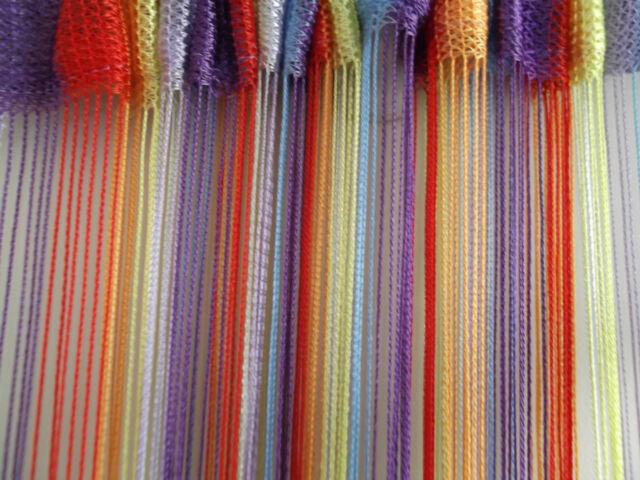 Bright Rainbow Stripe String Panel Curtain Room Divider Door Hanging 1mx2m Pride