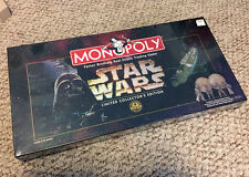 NEW SEALED Star Wars Monopoly Limited Collectors Edition Board Game 1997