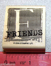 Stampin Up F Friend Single Stamp Letter F From the set of A is for Adorable