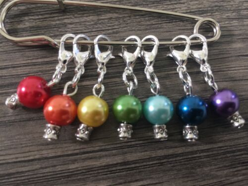 KNITTING//CROCHET Stitch Markers Rainbow Chakra Counters