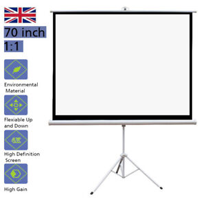 """Tripod NEW 70/"""" X 70/"""" 1:1 Projector Projection Screen Home Theater Movie Office"""