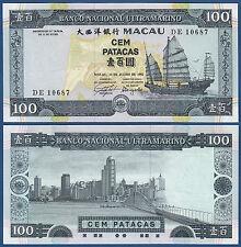 MACAU  BNU 100 Patacas 1992  UNC  P.68