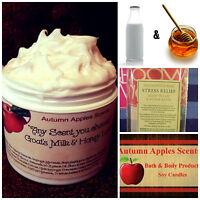 Goats Milk, Shea Butter & Honey Body Cream, Lotion W/jojoba-sandalwood Rose Type