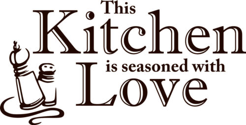 Kitchen Seasoned With Love Wall Quote Stickers Wall Decals kitchen//living room