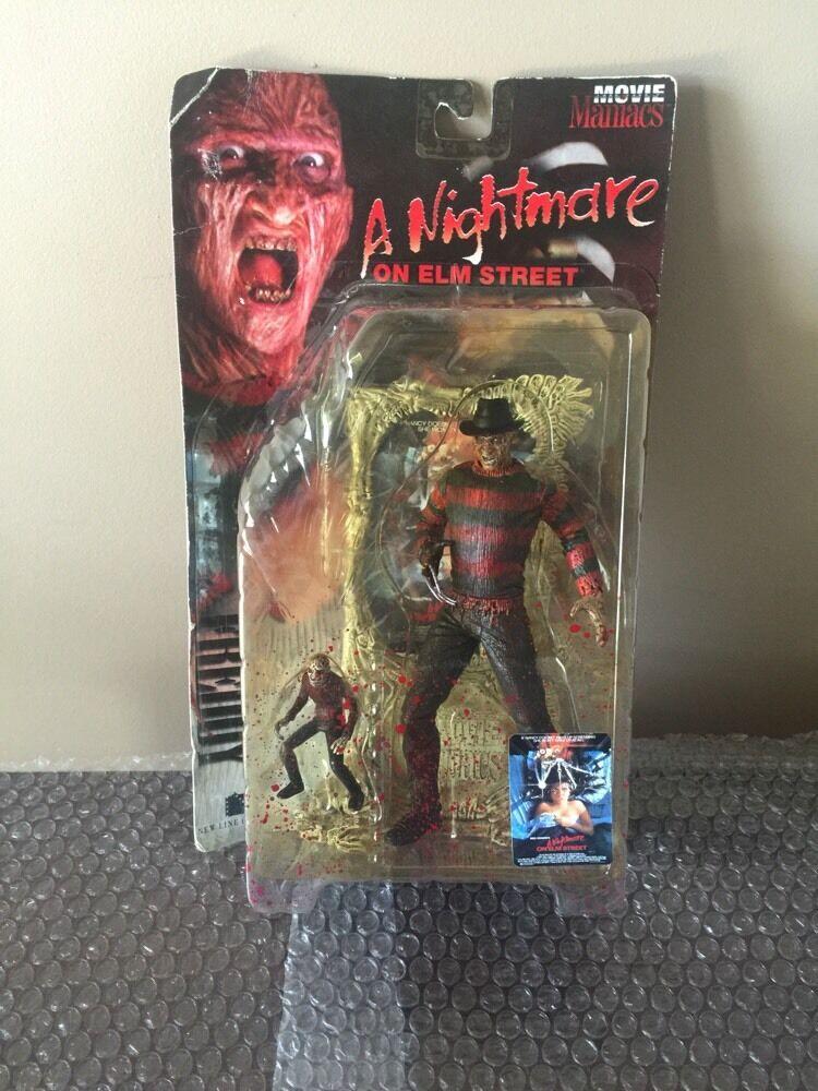 McFarlane Toys Freddy Krueger - A Nightmare on Elm Street Movie Maniacs... MOSC