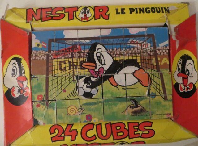 Cubes Nestor le Pingouin - Cavahel Vintage