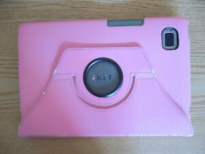 ACER-Tablette-Android-avec-rose-Kick-Stand-Case-rarement-utilise-fonctionne-mais-Dur-Internet