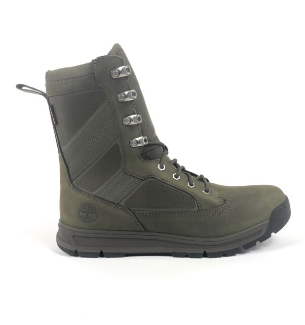 Gángster Accor colgar  Timberland Field Guide Tall Dark Green Mens 9.5 Military Boots Cordura  TB0A1KW5 for sale online